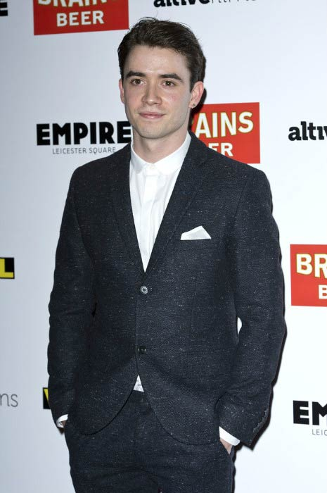 Jamie Blackley at the gala screening of 'Vinyl' in March 2013 in London