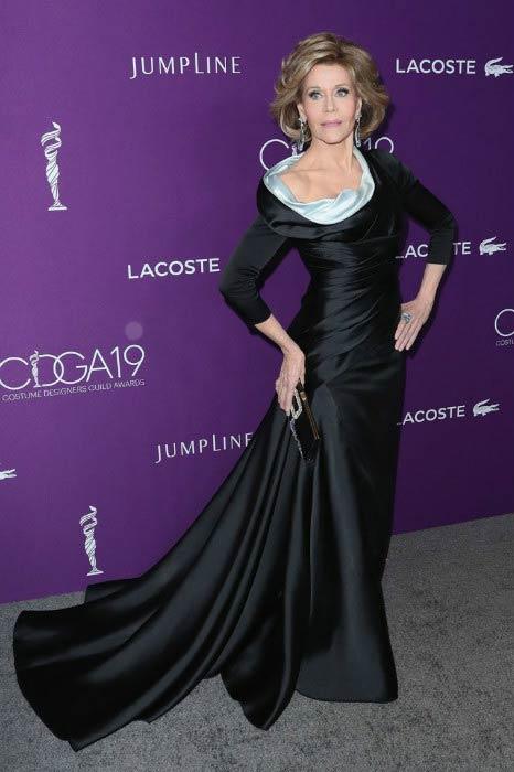 Jane Fonda at The 19th Costume Designers Guild Awards in February 2017