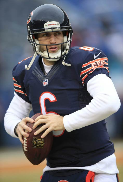 Jay Cutler before a match between Chicago Bears and Detroit Lions in December 2014