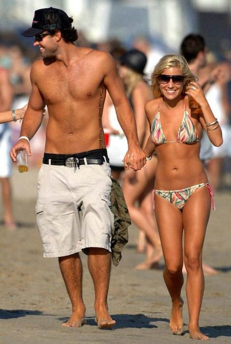 Jay Cutler shirtless and Kristin Cavallari on the beach