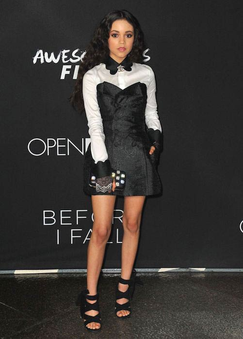 "Jenna Ortega at ""Before I Fall"" premiere in March 2017"