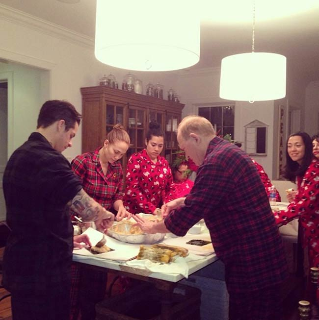 Jennifer Lopez while preparing Christmas food