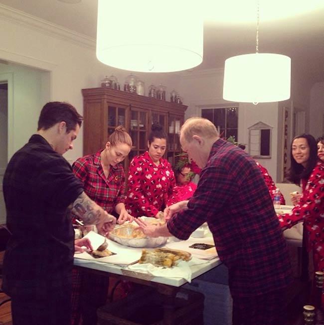 Jennifer Lopez while preparing Christmas food