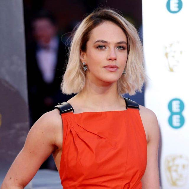 Jessica Brown Findlay at the BAFTA Awards in February 2017
