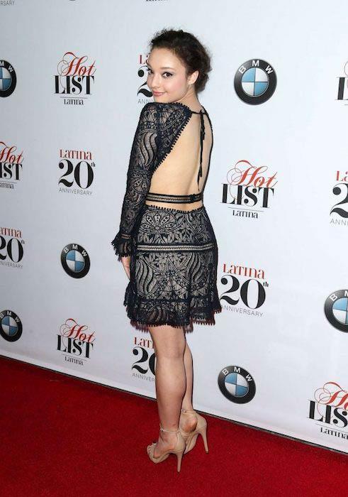 Kayla Maisonet at Latina Magazine's 20th Anniversary Hollywood Hot List Party in November 2016