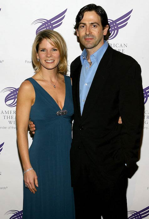 Kelli O'Hara with husband Greg Naughton at an American Theatre Wing Spring Gala 2008