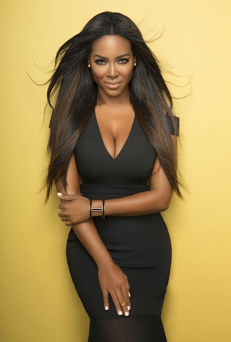 Kenya Moore photoshoot for Sheen magazine in December 2014 for the January/February 2015 cover