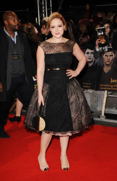 "Kimberley Nixon at the UK Premiere of ""The Twilight Saga: Breaking Dawn - Part 2"" in November 2012"