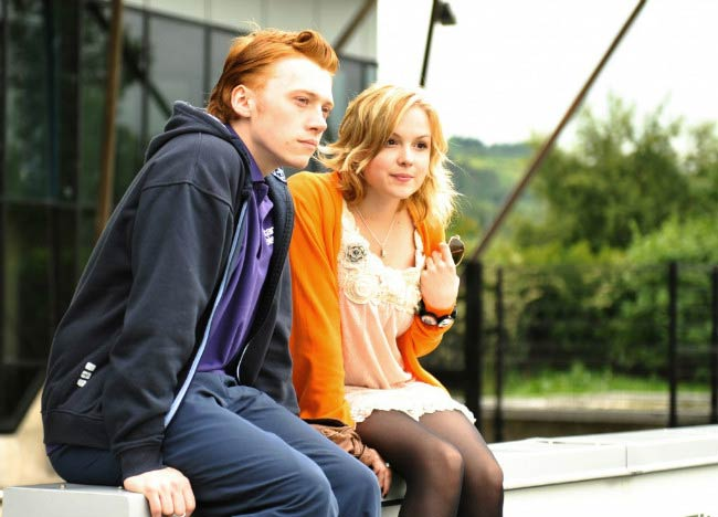 Kimberley Nixon and Rupert Grint in a still from the movie, Cherrybomb
