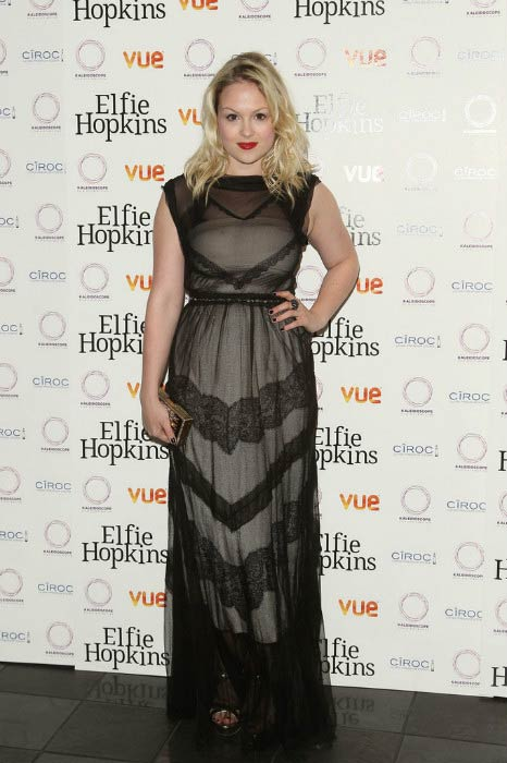 "Kimberley Nixon at the premiere of ""Elfie Hopkins"" in April 2012"