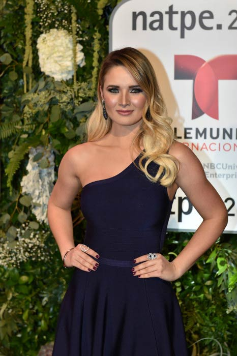 Kimberly Dos Ramos at the Telemundo NATPE party in January 2016 in Miami, Florida