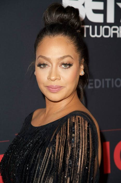 La La Anthony at the BET's The New Edition Story Premiere Screening in January 2017
