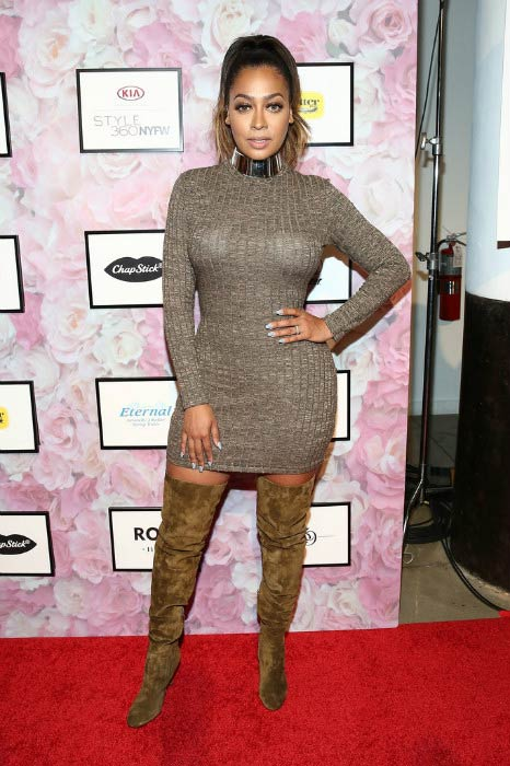 La La Anthony at the Style360 Fashion Week in September 2016
