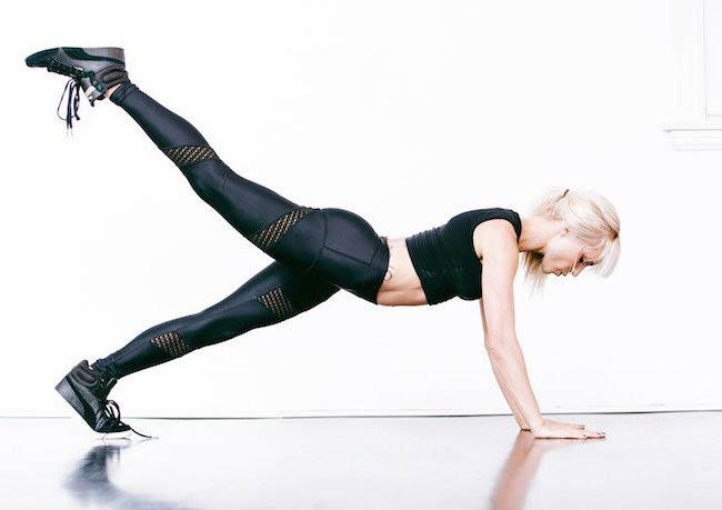 Lauren Kleban working out