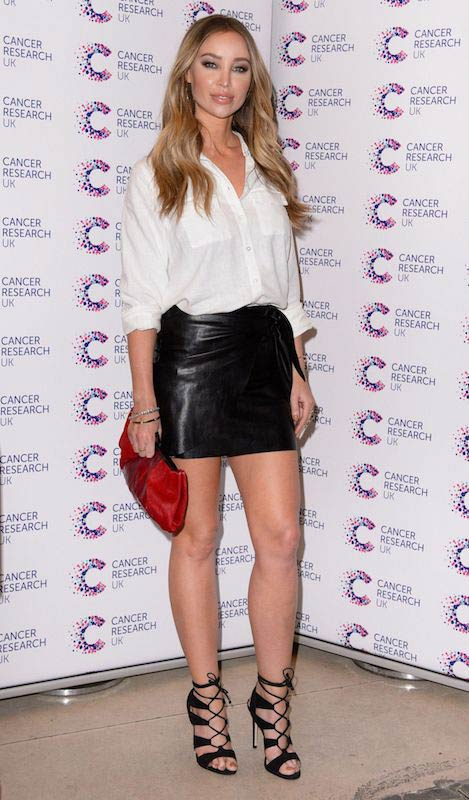 Lauren Pope Jog On To Cancer Charity Event in London on April 12, 2017