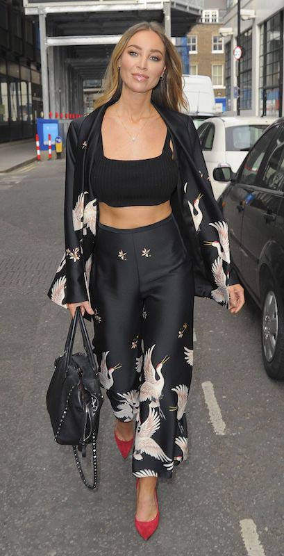 Lauren Pope in tank top out in London in March 2017