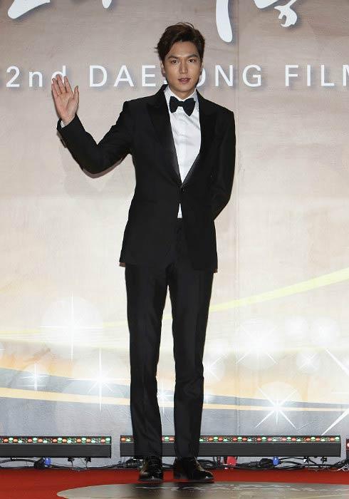 Lee Min-ho at the 52nd Daejong Film Awards in November 2015
