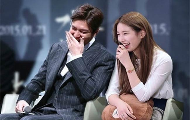 Lee Min-ho and Bae Suzy at a public event in 2016