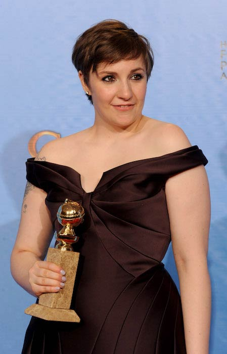 Lena Dunham before weight loss