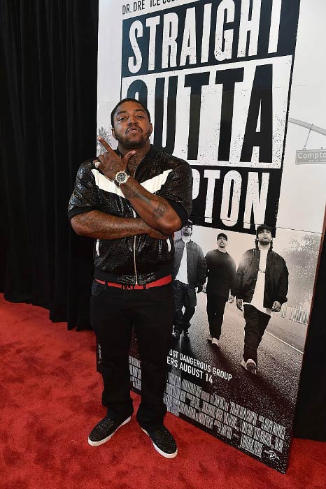 Lil Scrappy at the Straight Outta Compton VIP screening in July 2015