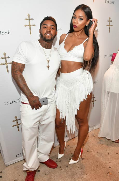 Lil Scrappy and Bambi Benson at the All White Dusse Affair in May 2016