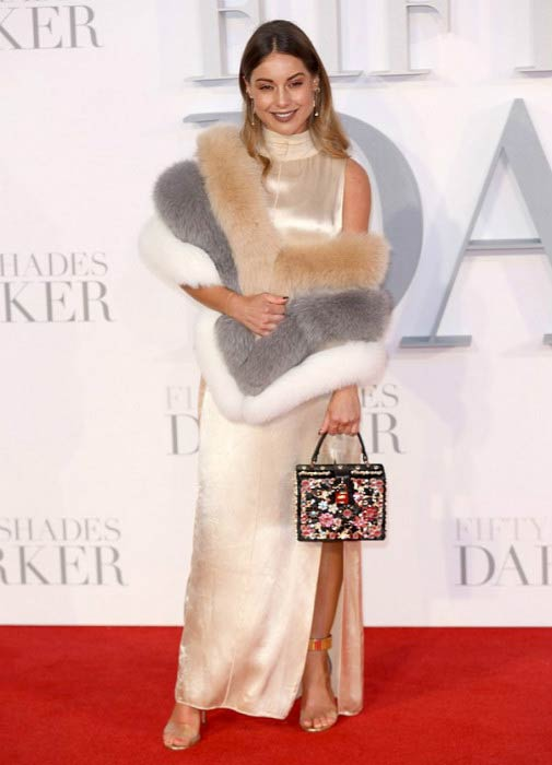 Louise Thompson at the Fifty Shades Darker UK Premiere in February 2017