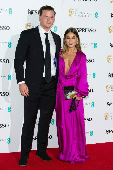 Louise Thompson and Ryan William Libbey at the British Academy Film Awards Nominees Party in February 2017