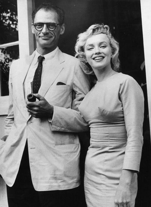 Marilyn Monroe and Arthur Miller in London in 1956