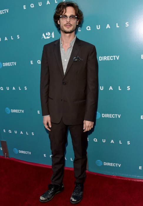 "Matthew Gray Gubler at the premiere of A24's ""Equals"" in July 2016"