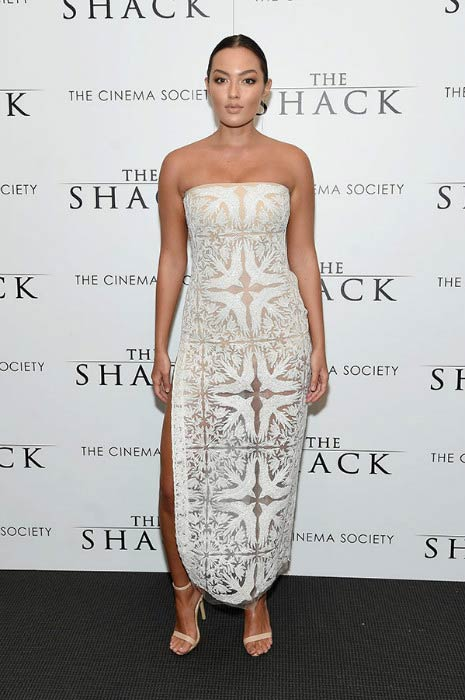 Mia Kang at the world premiere of The Shack in February 2017 in New York City