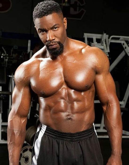 Michael Jai White buffed physique