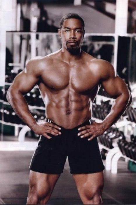 Michael Jai White in the gym