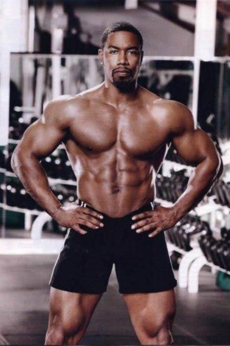 Michael Jai White in the gym