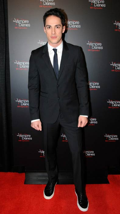 Michael Trevino at The Vampire Diaries' 100th Episode Celebration in November 2013