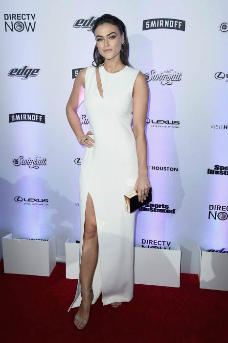 Myla Dalbesio at the Sports Illustrated Swimsuit NYC launch event in February 2017