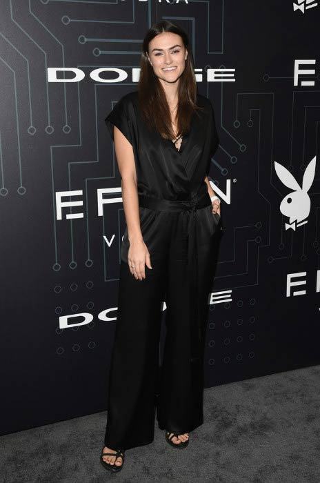 Myla Dalbesio at The Playboy Party during Super Bowl Weekend in February 2016