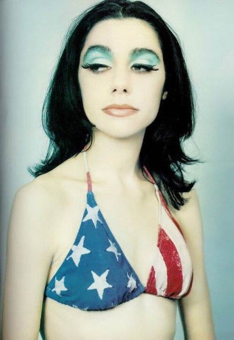PJ Harvey in a bikini (File Photo)