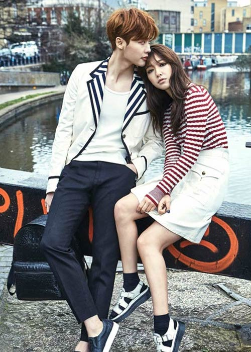 Park Shin-hye and Lee Jong-suk in a photoshoot for the InStyle magazine