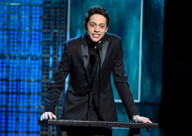 Pete Davidson at Justin Bieber's roast in March 2015
