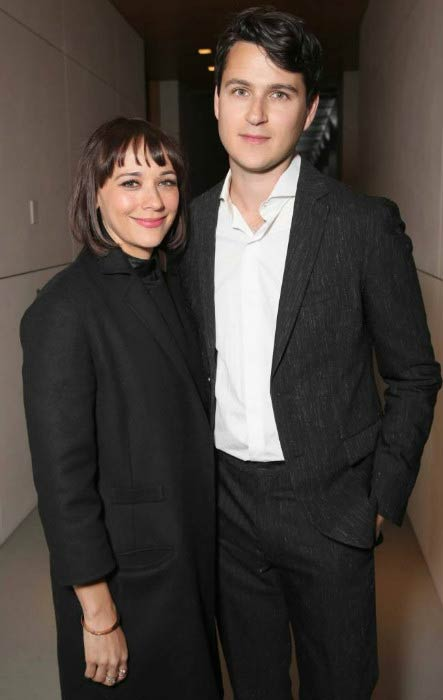 Rashida Jones and Ezra Koenig at the Variety Studio event in January 2017