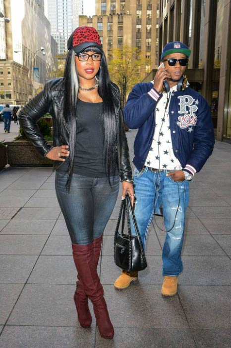 Remy Ma and Papoose out in New York City in 2014