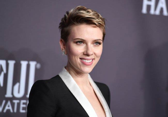 Scarlett Johansson at amfAR New York Gala in February 2017