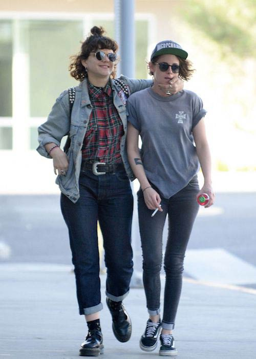 SoKo and Kristen Stewart leaving Cafe Gratitude in Los Angeles on February 3, 2016