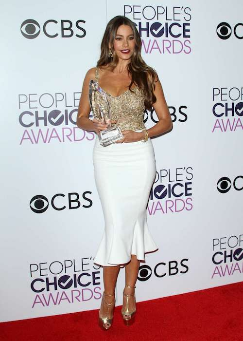 Sofia Vergara at 2017 People's Choice Awards.