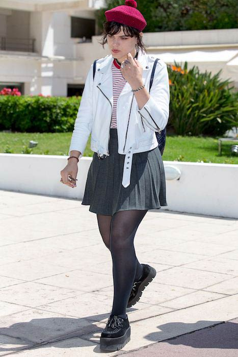 Soko seen in a smart outfit in Cannes, France on May 16, 2016
