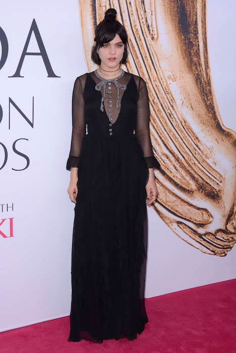 Soko wore a Gucci dress and Eva Fehren jewelry at the CFDA Fashion Awards on June 6, 2016