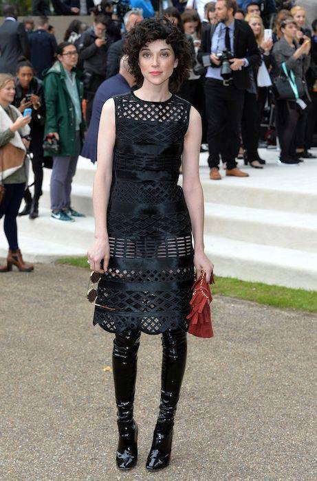 St. Vincent at London Fashion Week on September 15, 2016