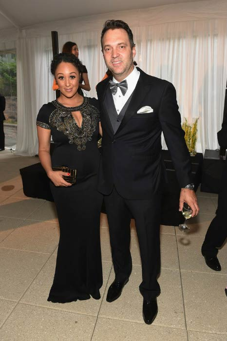 Tamera Mowry and Adam Housley at the White House Correspondents' Association Pre-Dinner Reception in April 2016