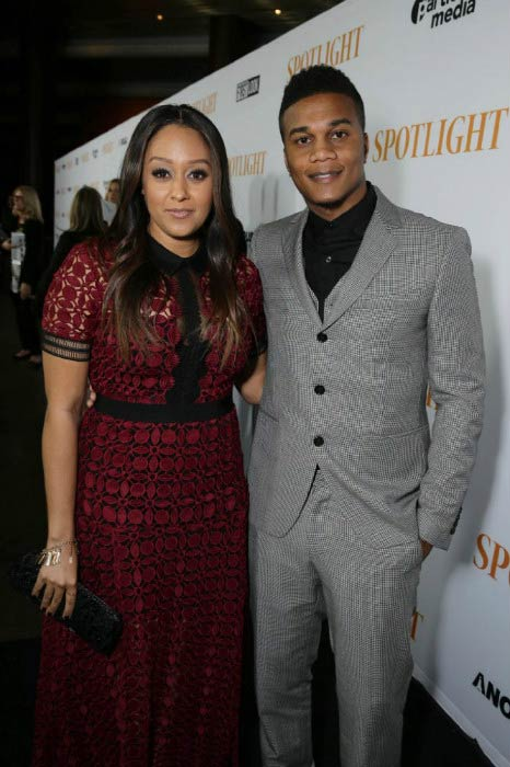 Tia Mowry and Cory Hardrict at the special screening of Open Road Films' Spotlight in November 2015