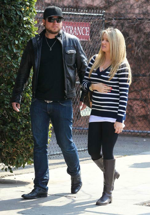 Tiffany Thornton and Chris Carney out for shopping in Los Angeles in March 2012